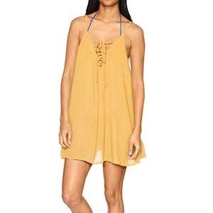 NWT Roxy Yellow swimsuit coverup dress size XS